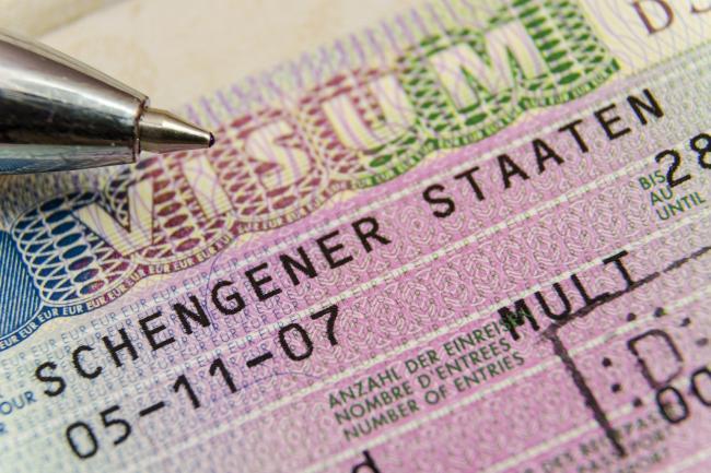 Немецкая национальная виза в паспорте