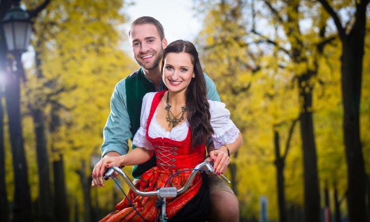 Жители Германии на велосипеде