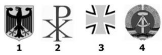 Варианты немецкого герба для тестирования иностранцев на гражданство