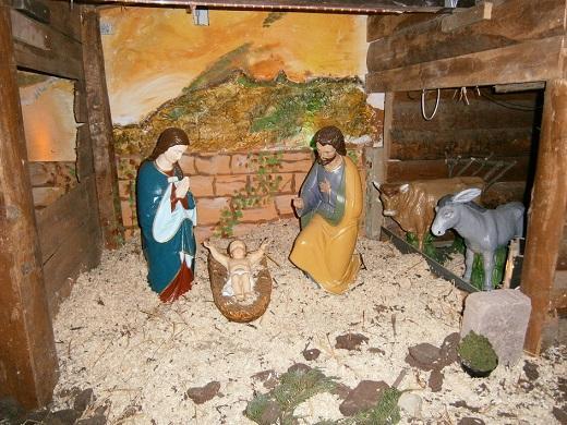 Сцена рождения Иисуса на немецкое Рождество