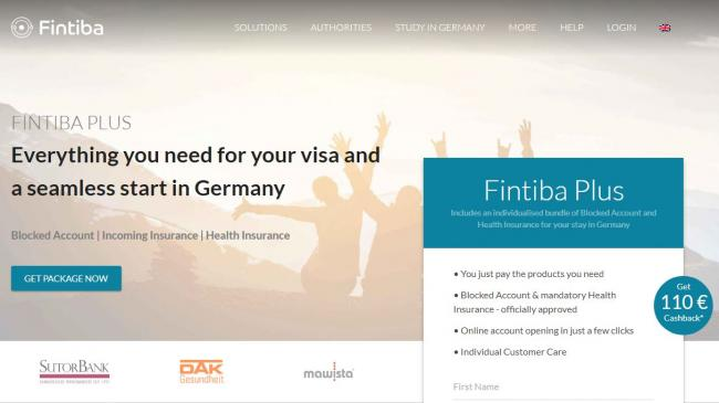 Скриншот сервис студентам Fintiba