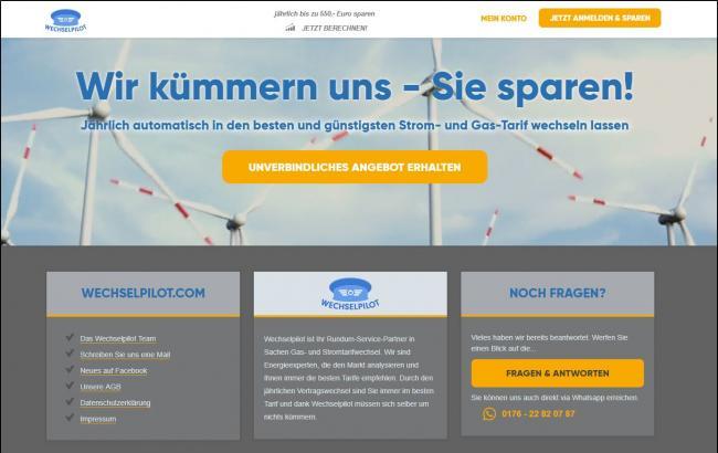 Скриншот сайта Wechselpilot