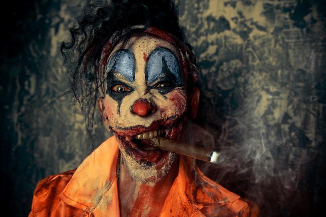 Злой клоун на Хэллоуин в Германии
