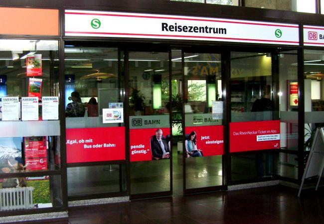 Центр для путешественников на ЖД вокзале города Хайдельберг