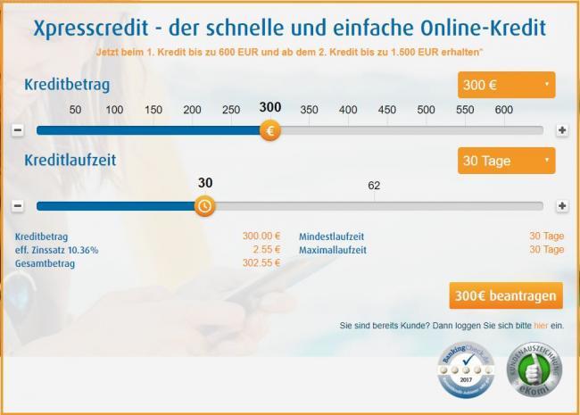 Скриншот микрокредиты в Германии