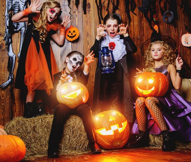 Дети в Германии на Хэллоуин