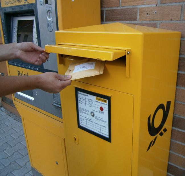 Вброс письма в Германии